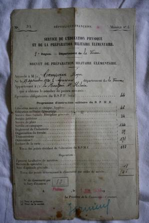Brassard+papier de Mr COMPAIN Roger maquis de Scévolle !