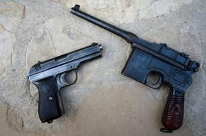 C 96 en 9mm et CZ 27 en 7.65 ( les 2 pièces sont démilitarisés St Etienne )