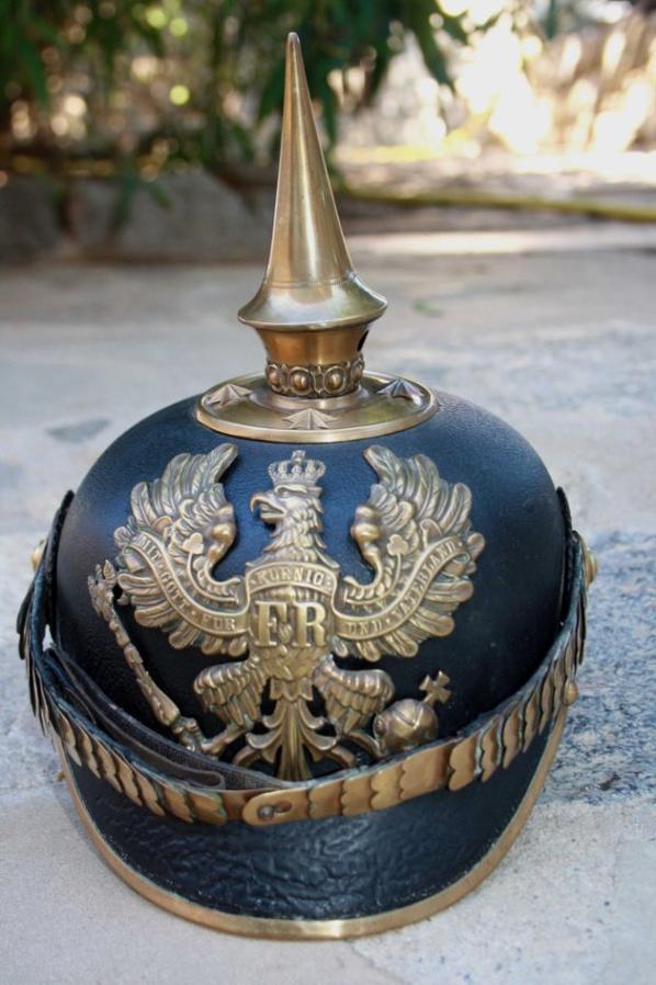 Casque officier prussien.