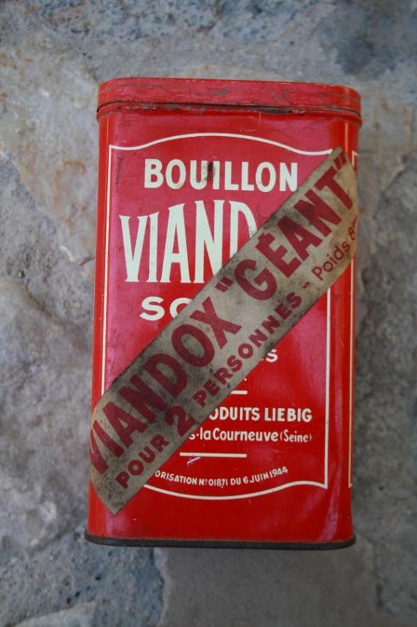 Boîte VIANDOX , autorisation n°01871 du 6 Juin 1944.