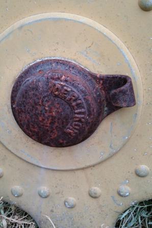 Roue de canon de 2cm Oerliconn ( Don de l'association PMG; patrimoine militaire Gruissanais)