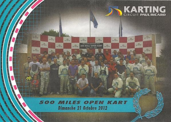 Première manche des 500 Miles sur le Circuit du Castellet . Le 21/10.