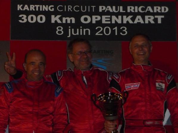 Les 300KM de Kart sur le Circuit du Castellet. Photo Carqueiranne