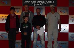 Les 300KM de Kart sur le Circuit du Castellet. Photo Podium