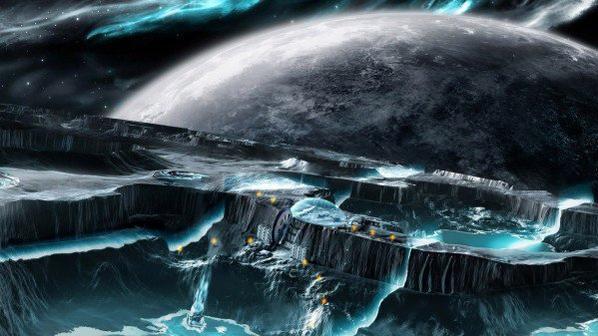 SuperNova dans l'espace et La planète irréel mine d'espace