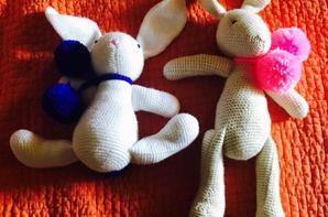 reproduction de doudous,pour deux petites filles très contentes