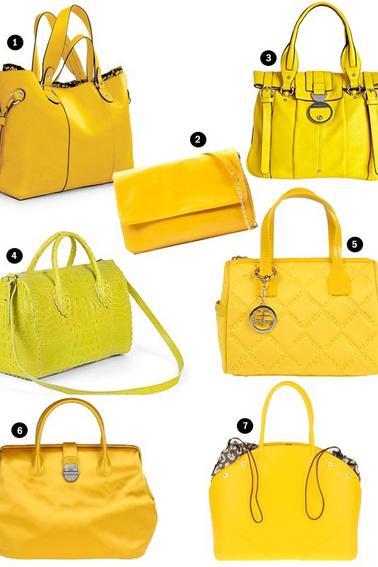 Les sacs jaunes à la mode