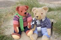 Aujourd'hui beau temps calme promenade à ma mer avec mes ours Wolfgang et Romain ++++
