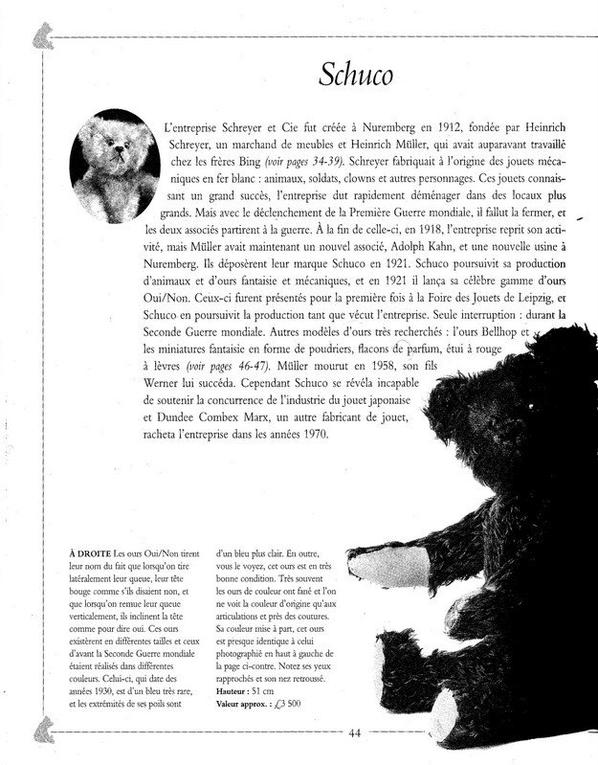 2 scan aux sujet de l'ours Schuco bonne journée  à vous tous+++