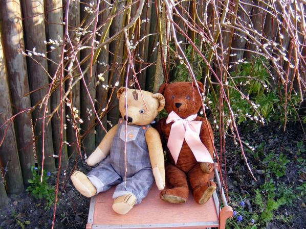 Mes ours dans notre jardin ,ils vous souhaite un beau weekend+++++