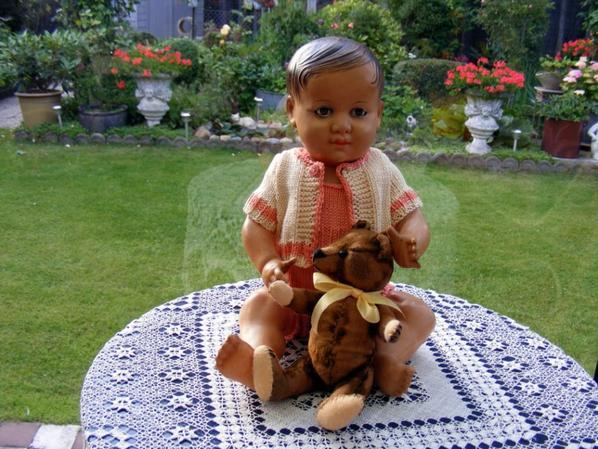 Je vous montre ma petite laine que ma maman à tricoté Belle journée à vous tous César