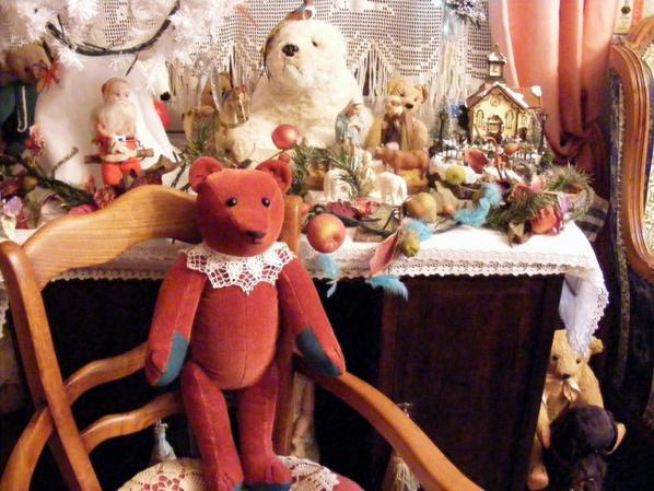 Bonsoir je viens de terminé mon ours Sylvestre que j'ai crée +++