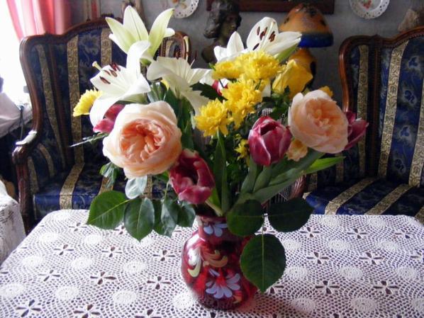 mon jolie bouquet de fleurs pour terminé l'année+++++
