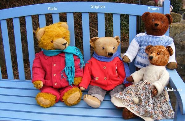 Mes ours sur la glace habiller de chez Emmaus+++++