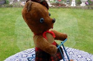 Un petit coucou de mon ours sur son tricycle++++