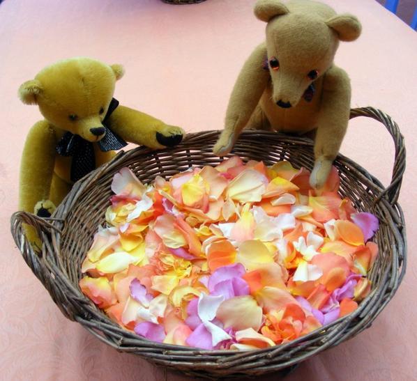des pétales de roses parfum délicieux,du jardin mes ours vous les présentes+++