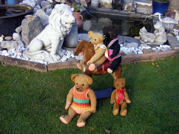 Mes ours vous envoi une belle journée ,nous profitons du soleil de l'automne ++++