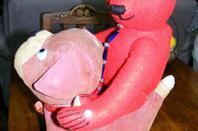 Mon ours Peter vous présente son nouveau copain il s'appelle Bijoux.