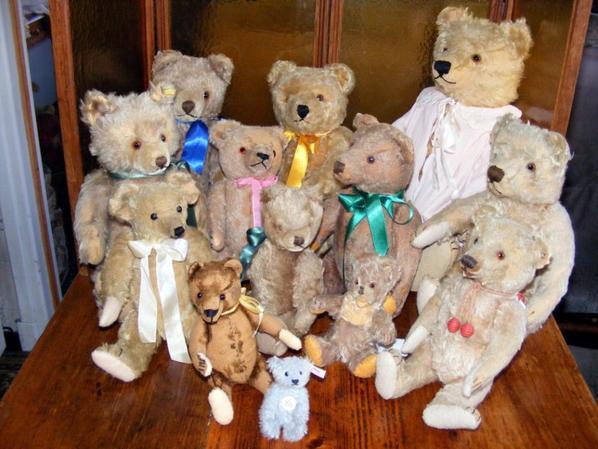 Mes ours Steiff vous souhaites à tous une belle journée+++