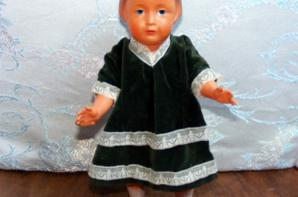 Mes trouvailles de hier un bel ours Gabriel et jolie poupée Françoise.