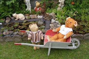 Mes ours dans notre jardin vous envoi un petit coucou à vous tous
