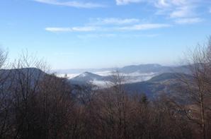 Vacances de Noël avec mer de brouillard en contrebas et magnifique temps !