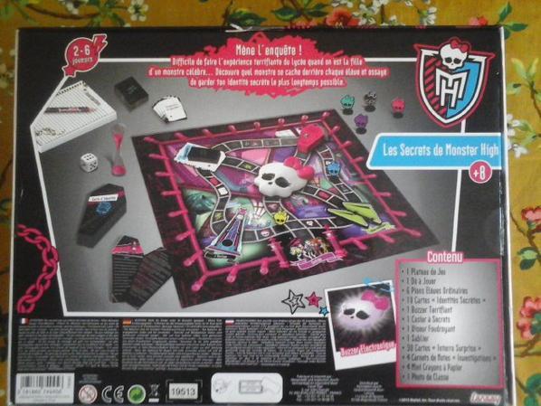 Jeu de societé - Les secrets de Monster High