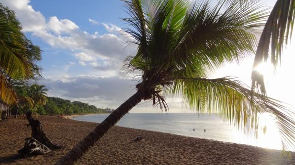 Baignade sous la pluie et le beau temps à la Plage de la Perle, Déhais, Guadeloupe
