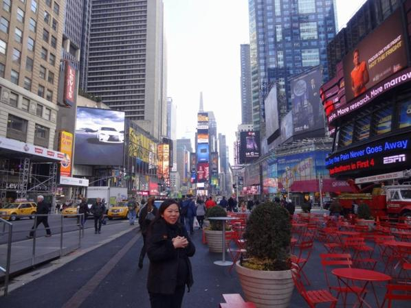 Time Square : beaucoup plus calme le matin !