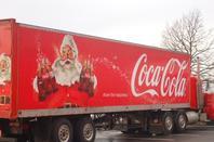 visite du pere noel et des camions coca cola a knauf shmiede