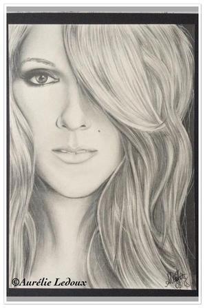 magnifique  dessin de  Céline  Dion   et    Patrick Swayze