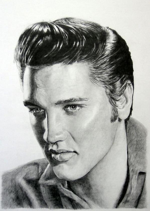 Magnifique Dessins Elvis Presley Et Johnny Hallyday Blog De