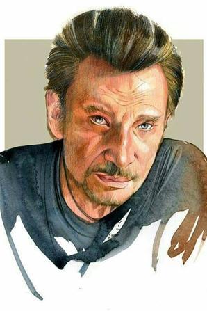 magnifique  portraits   de  Johnny