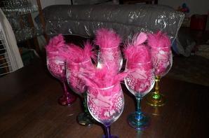 gravure pour un service de 6 verres, thème raisin