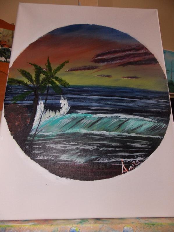 la mer et un phare des iles de laa Madeleine