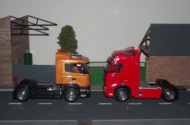 Nouveauté : Scania R470 et Volvo FH 12 - 500