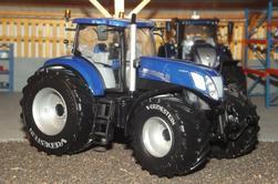 Sortie d'atelier : New Holland T7.270 Blue Power pneus Vredestein