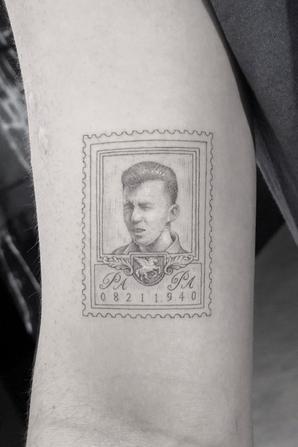 ▬ ▬21 juillet 2018 ▬ Nouveau tatouage de Joe en hommage à son grand-père