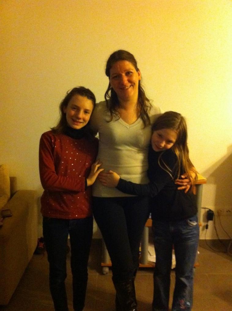 moi et mes 2 filles et mon garcon
