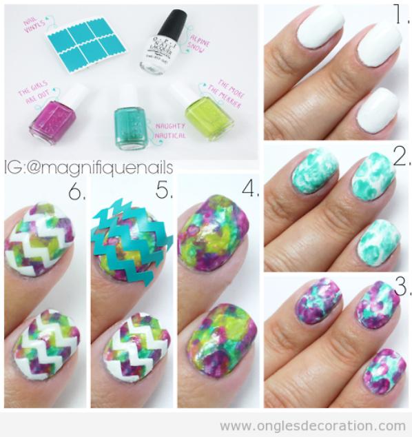 ○ Tuto nail-art printanier ○