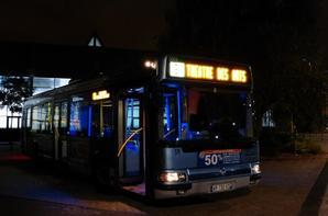 Irisbus Agora S ¤3 de Rouen sous la Nuit et la Tombée de la Nuit en ce 20-10-14