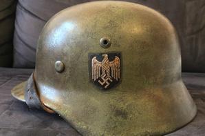 Casque allemand WW2 M35 2 tons