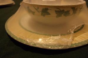 set à dessert ET vaisselle pour pique nique ou camping