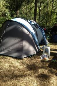 Trop super notre camping à Roche Plate!!