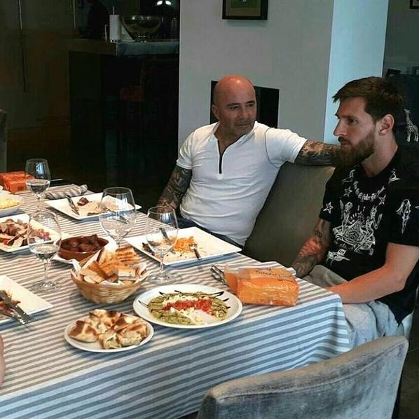 Lionel Messi & le nouveau selectionneur Argentin