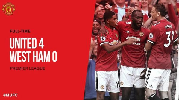 Man United 4-0 West Ham (Lukaku X2 / Martial / Pogba)