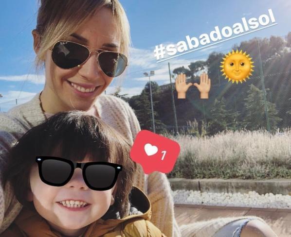 Anna Iniesta & ses enfants Valéria & Paolo