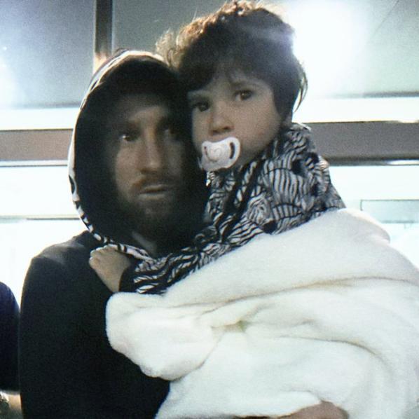 Lionel Messi & ses fils