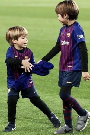 Gerard Piqué & ses fils