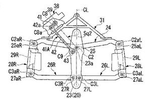 Honda patent for a future tree-wheeled  ?